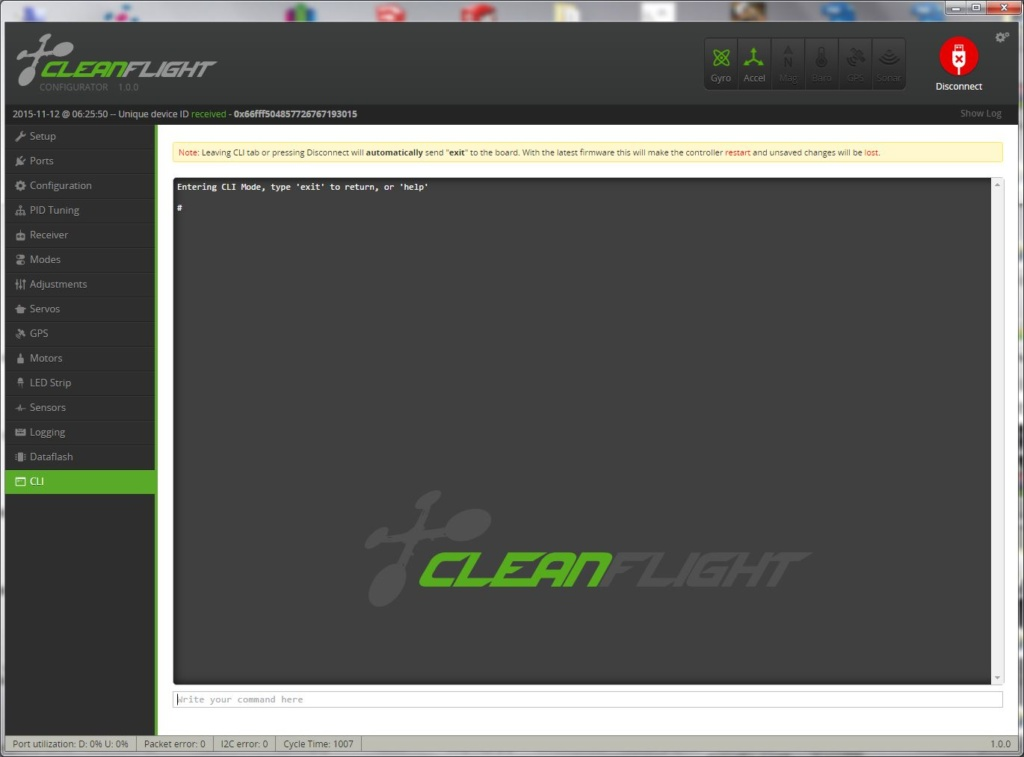 Cleanflight CLI