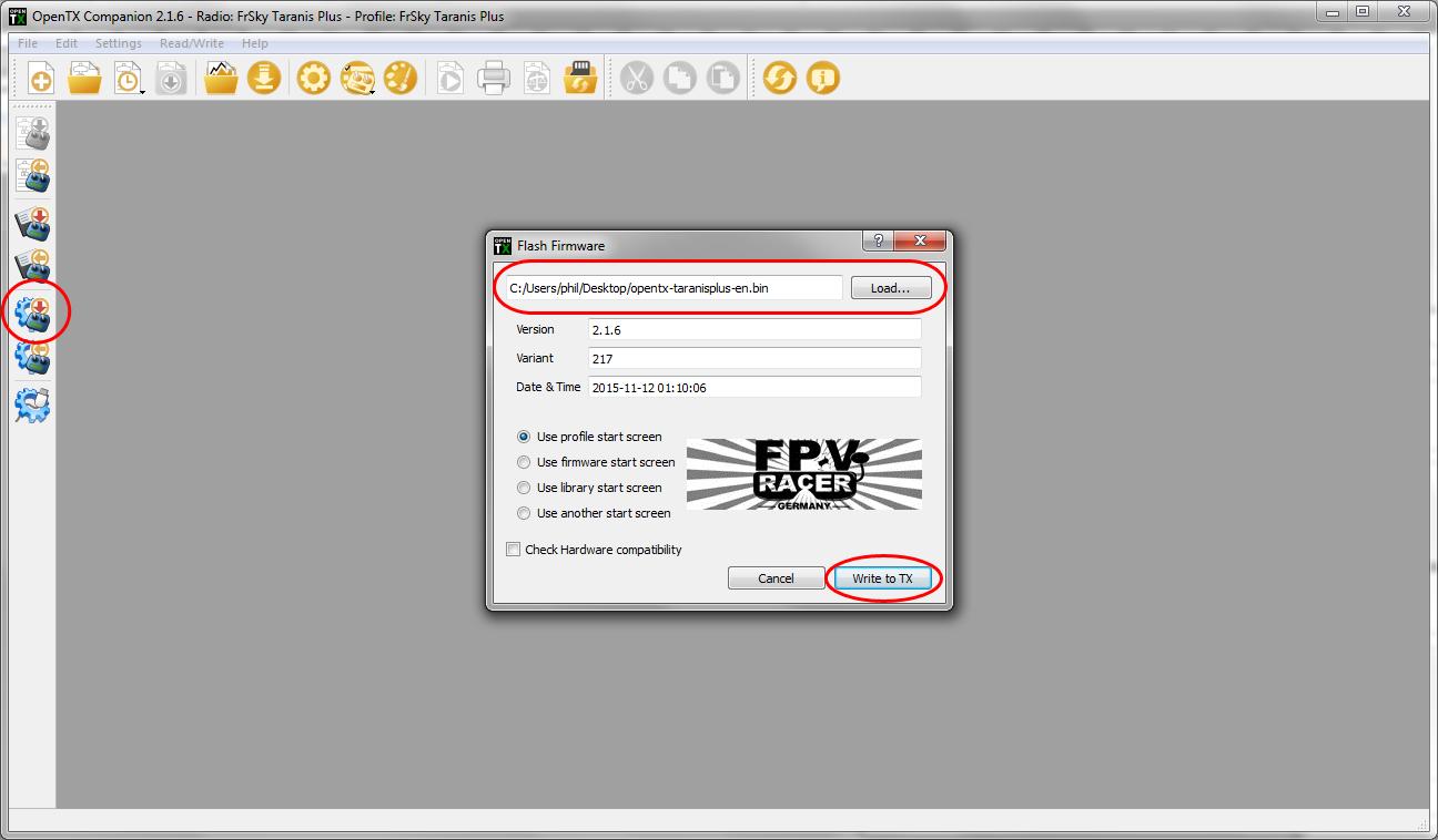 FrSky Taranis X9D Plus - EU Version auf International flashen