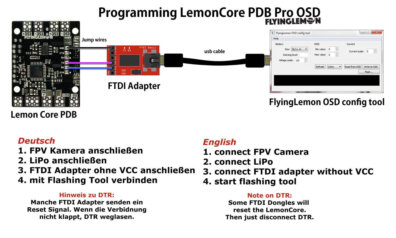 LemonCore PRO PDB mit OSD