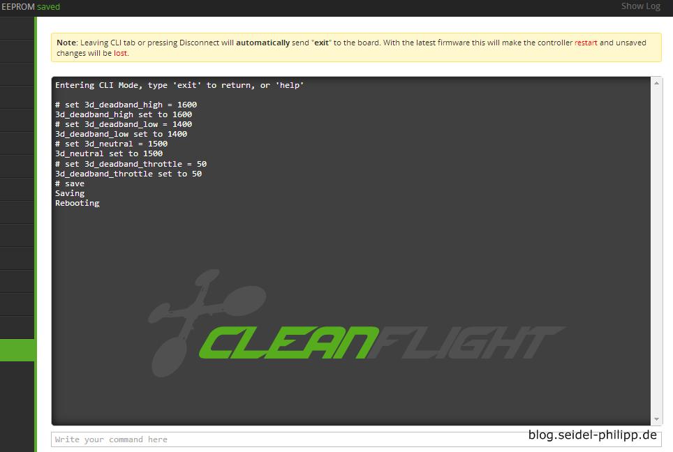 cleanflight_3d_cli