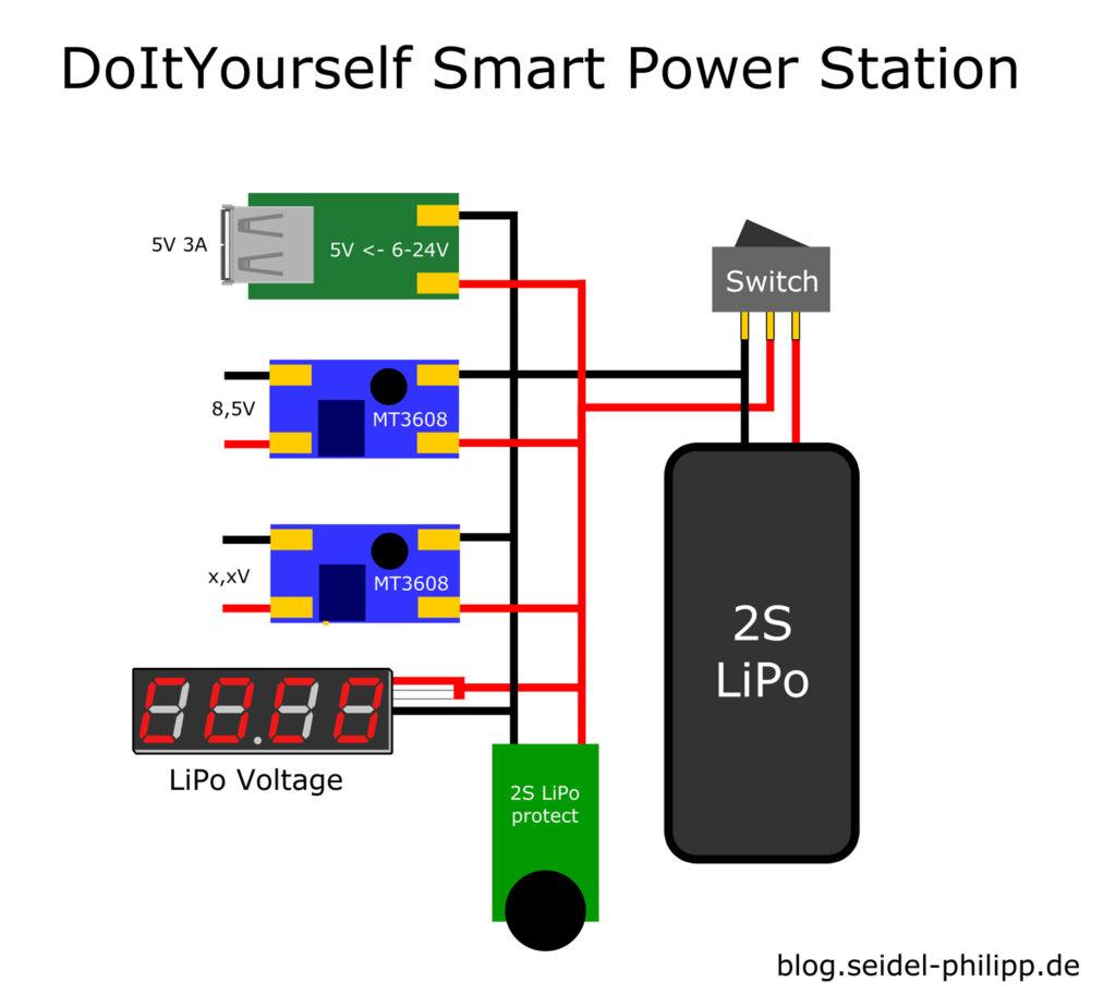Smart LiPo wiring plan