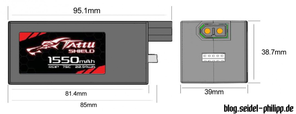 gensace tattu shield hardcase lipo battery dimensions