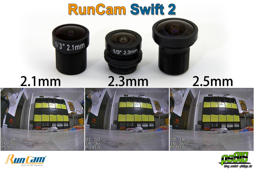 RunCam Swift 2 lens 2.1 2.3 2.5