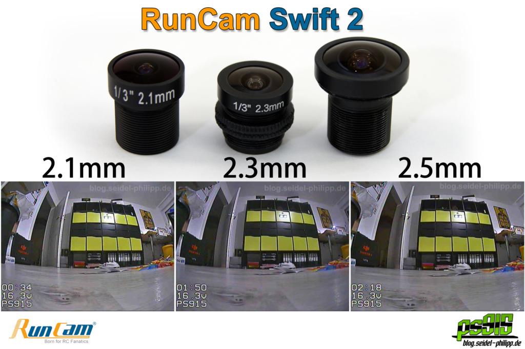 RunCam Swift 2 lens 2.1 2.3 2.5