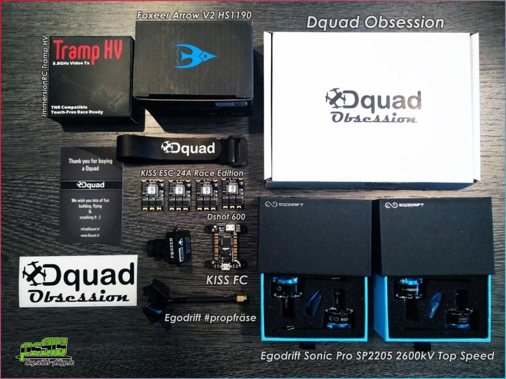 Dquad Obsession FPV Frame Komponenten
