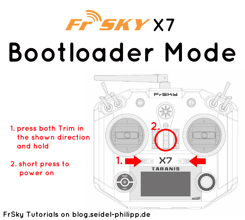 frsky taranis q x7 flash bootloader mode