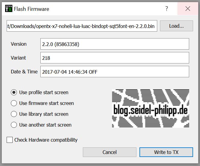 FrSKY Taranis Q X7 – How to flash firmware (EU-LBT/NON-EU/Stock)