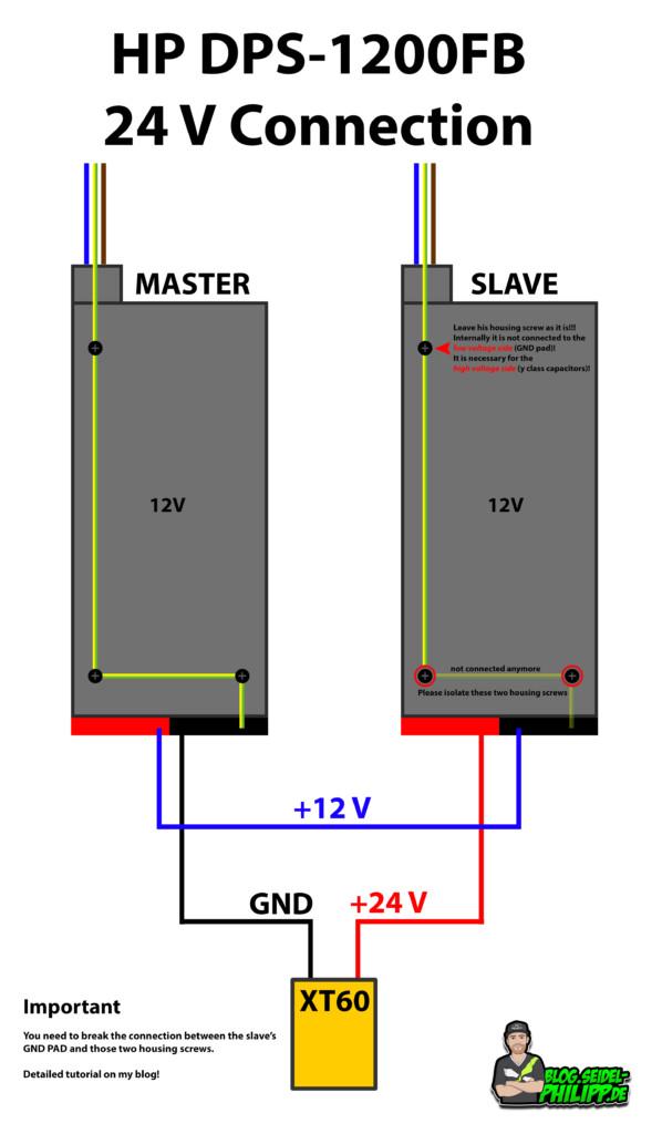 HP DPS-1200FB 24 volt mod