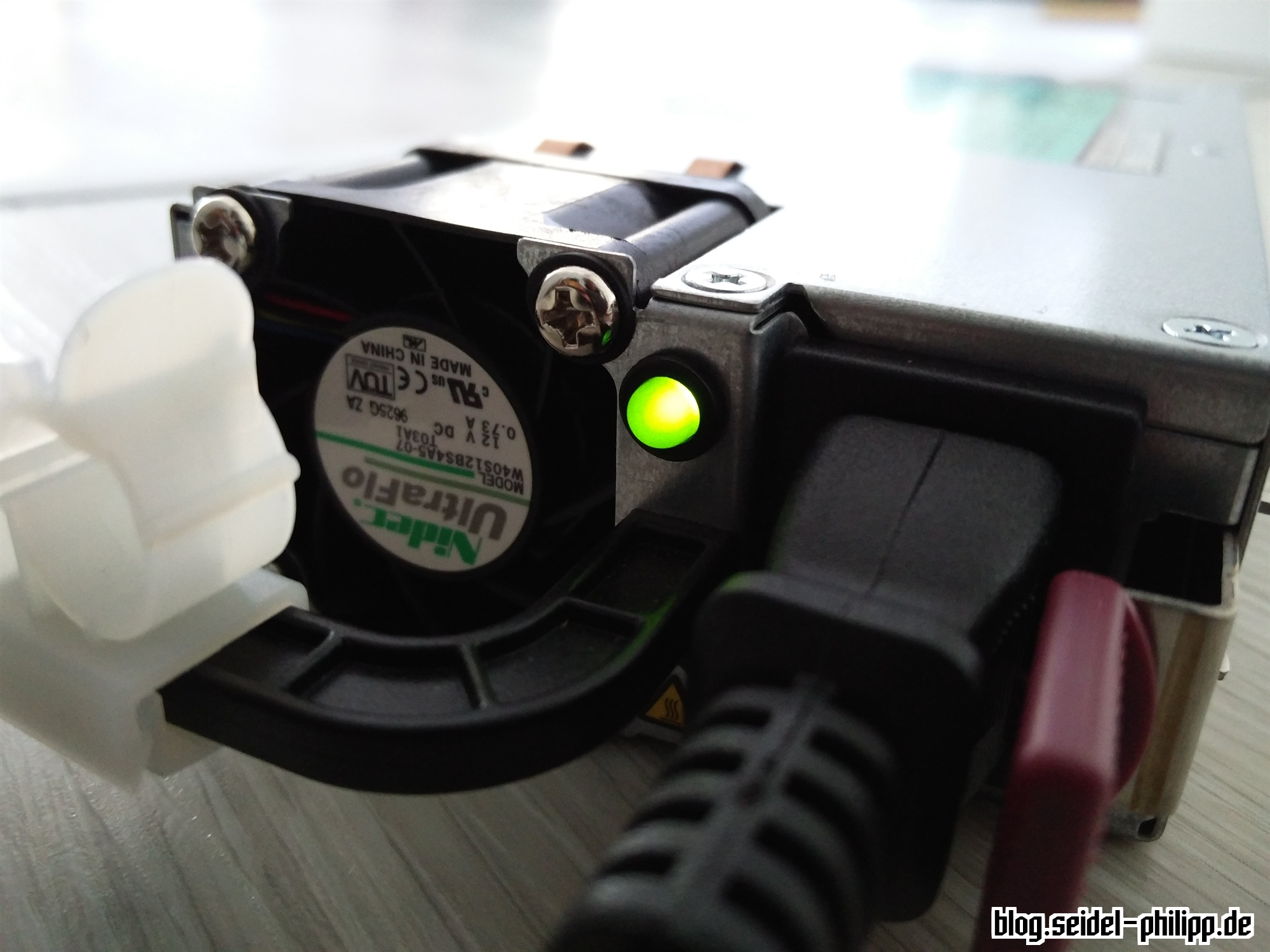 Hp Dps 1200fb Power Supply Hack For Charging Lipos Led Voltmeter 5012 Psu Batt Chargers Electronic Components If Everything Is Correctly Soldered You Can Plug The Into Socket First Time When Green Lights Up