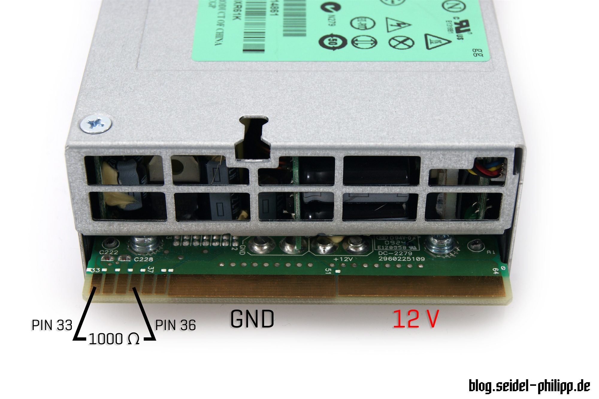 HP DPS-1200FB Power Supply Hack for charging LiPos