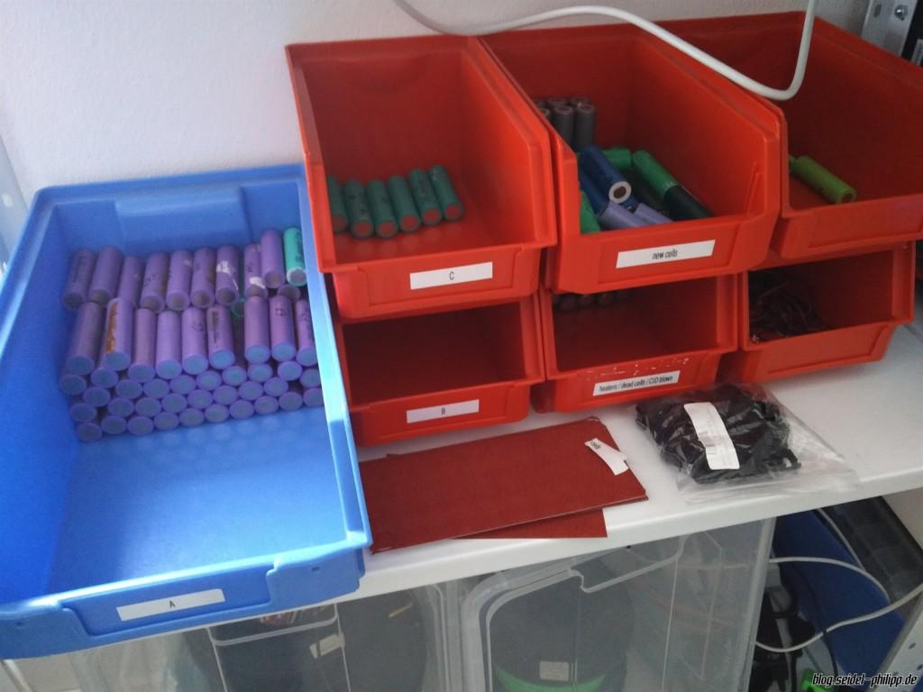 sorting 18650 cells