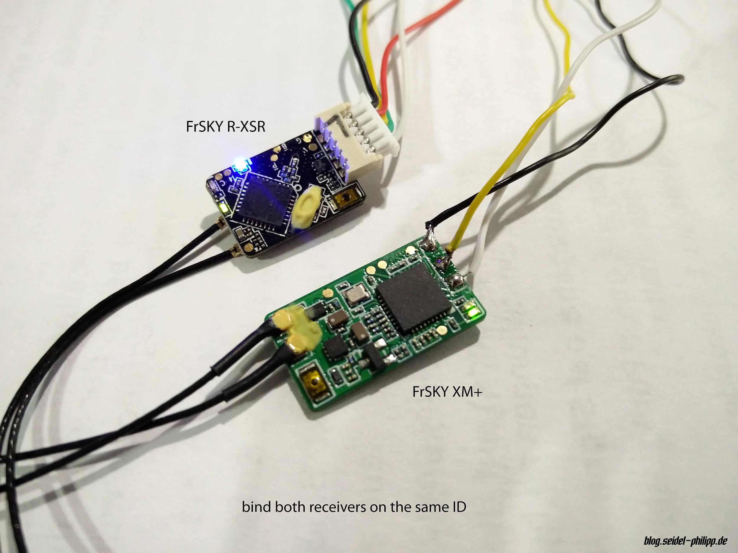 FrSky R-XSR - smallest full range receiver with telemetry