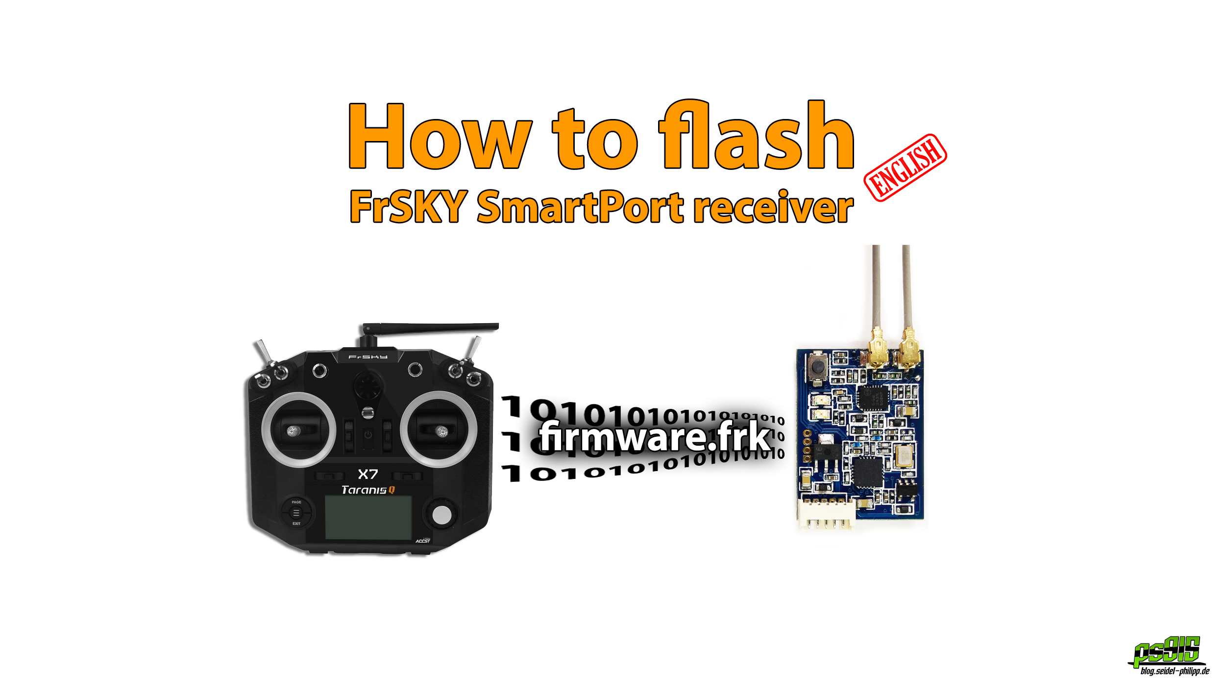 How to flash a FrSKY SmartPort receiver with Taranis 9XD or