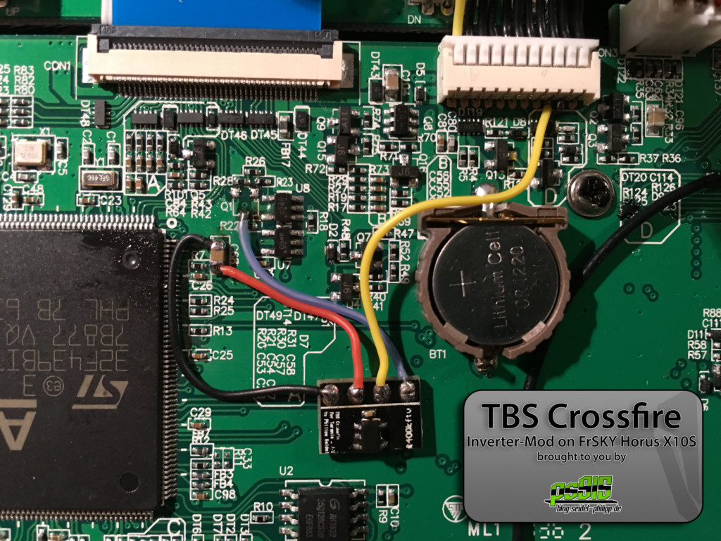 Fixed - Inverter Mod for TBS Crossfire and FrSKY QX7, X10S & X12