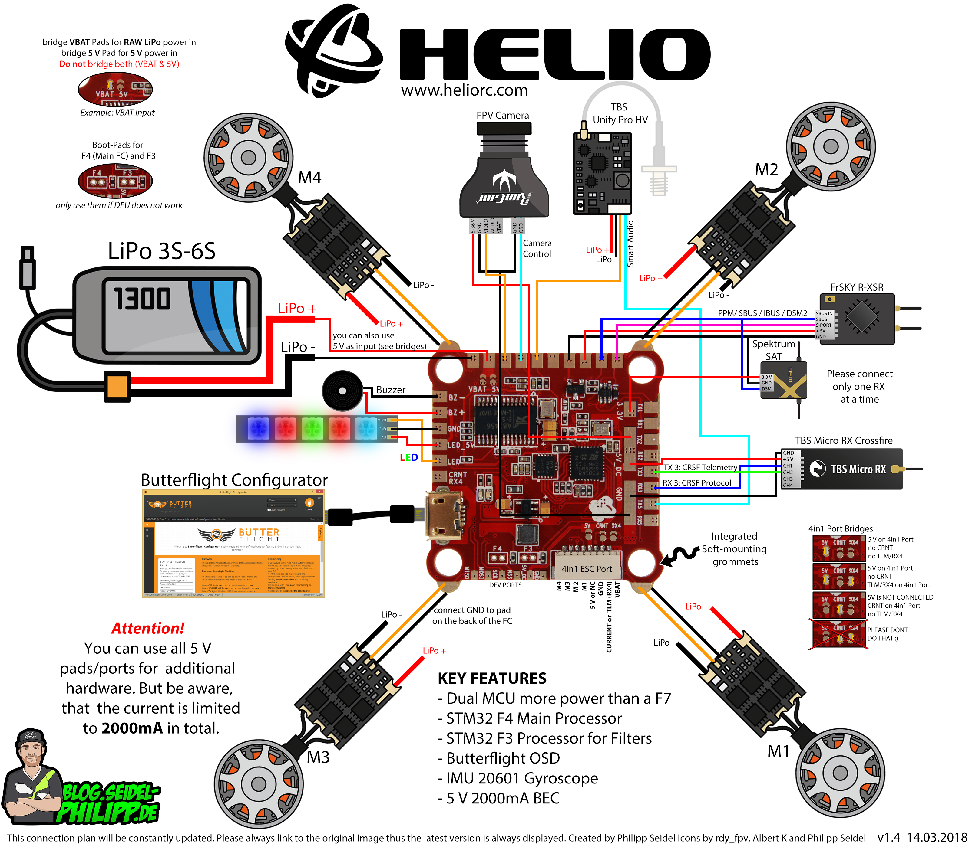 HelioRC Wiring Diagram Schematic