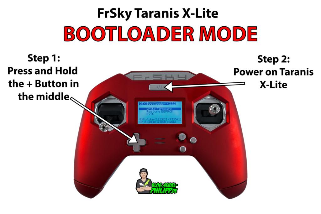 Frsky Taranis X-Lite bootloader mode