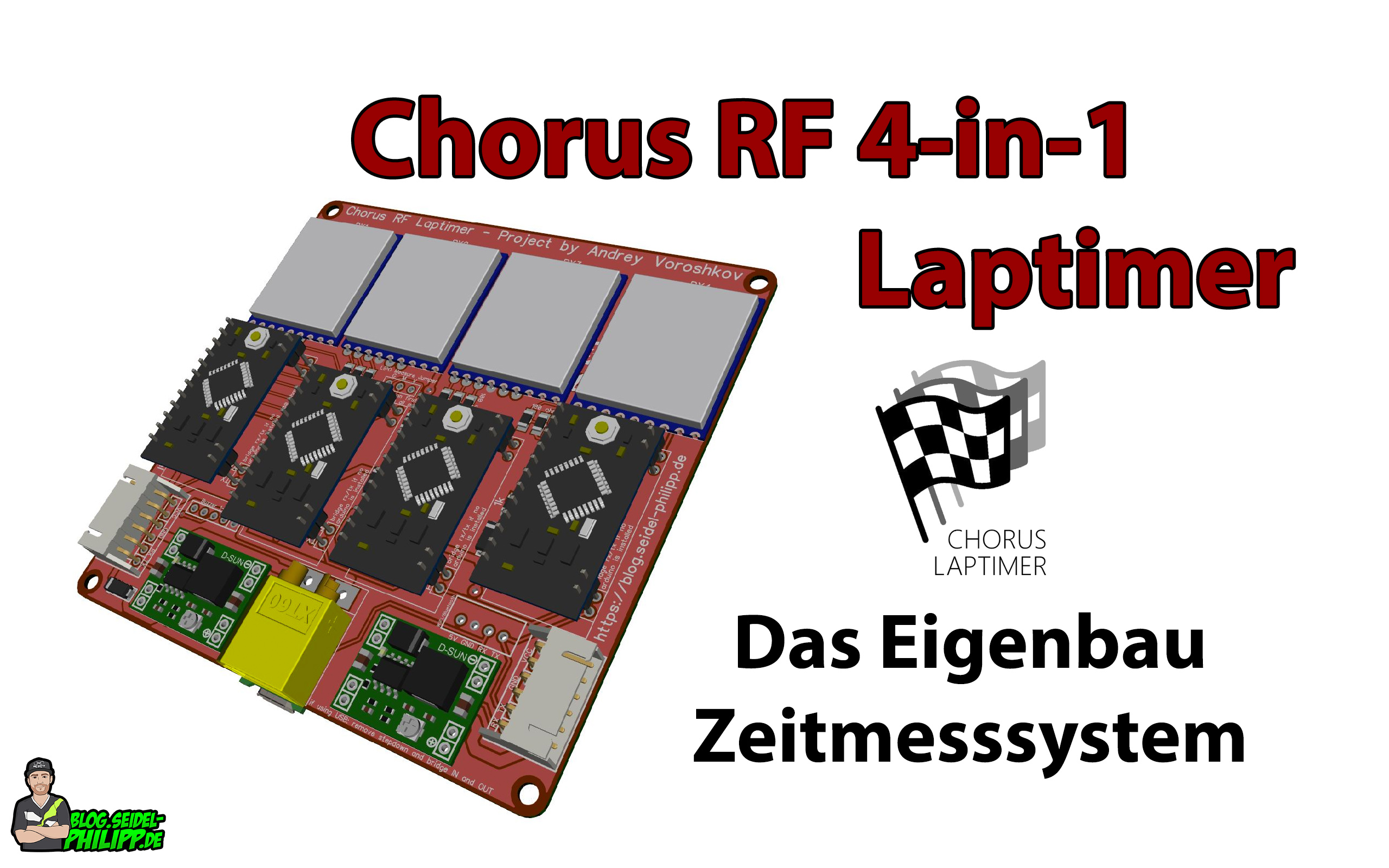 Chorus RF Laptimer - 4in1 PCB